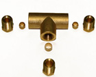 Тройник для медной трубки д. 6 мм – 6 мм - 8 мм.